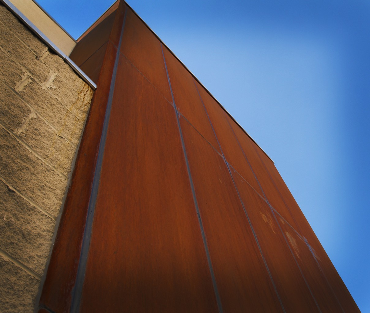 Architectural Metal Cladding : Corten cladding privacy screens steel sculpture