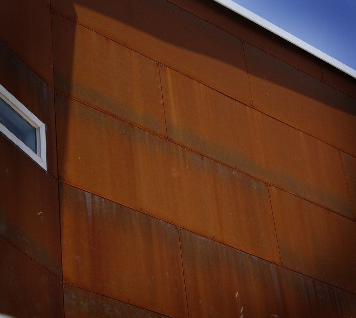 Architectural Metal Cladding : Architectural steel metal cladding privacy screens